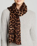 AQUA Animal Print Scarf On Sale $54.60