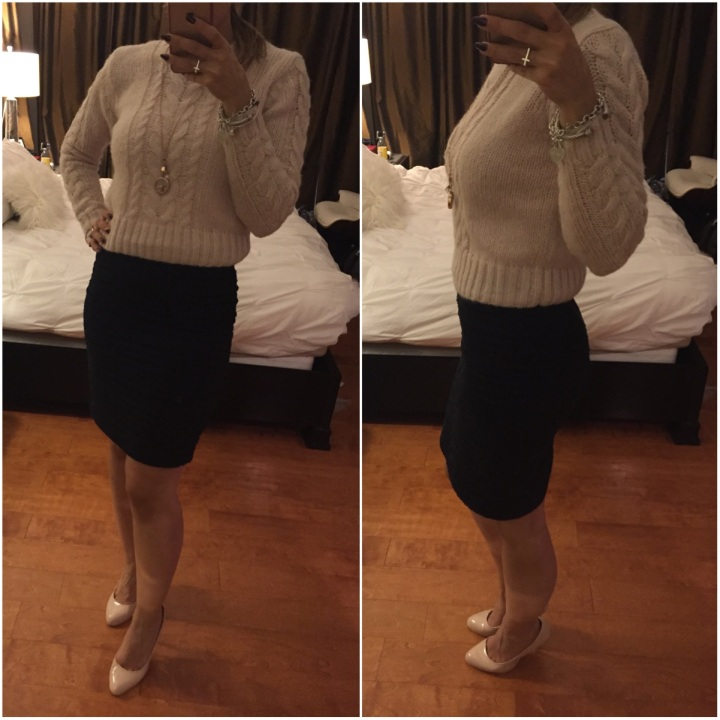 Cropped Sweater and Skirt