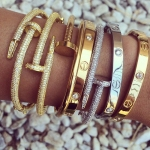 Princess P. Jewelry Kim Bracelets $29.99 with Clavo Crystal Bangles $145